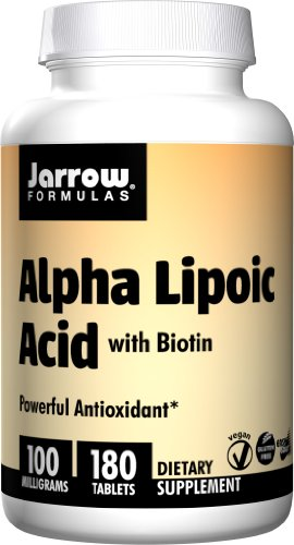 Jarrow Formulas, Alpha Lipoic Acid With Biotin 100 Mg 180 Easy-Solv Tablets