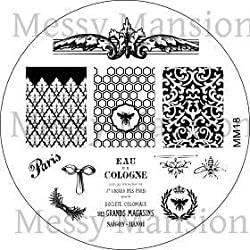 Messy Mansion Mm18 Nail Art Stamping Plate Shabby Chic Themed