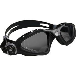 Aqua Sphere Kayenne Goggle Smoke Lens, Black/Silver