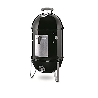 Weber Smokey Mountain Cooker in Black Porcelain Enameled Charcoal Vertical Smoker