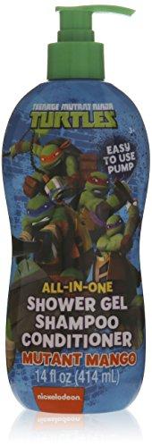 Teenage Mutant Ninja Turtles All-in-one Shower Gel Shampoo Conditioner - Mutant Mango - 14 Fl Oz