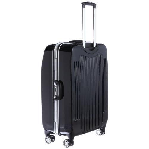 [ニコル] NICOLE 1週間対応 ポリカーボネート100%製トラベルキャリーケース TSAロック付き 05-5161 BK (BLACK)