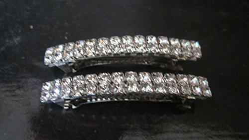 Crystal Rhinestone Hair Barrette 2pc Hair Clip 60mm