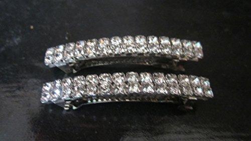 Crystal Rhinestone Hair Barrette 2pc Hair Clip 60mm