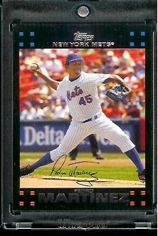 2007 Topps Pedro Martinez New York Mets #500 MLB Baseball Trading Card