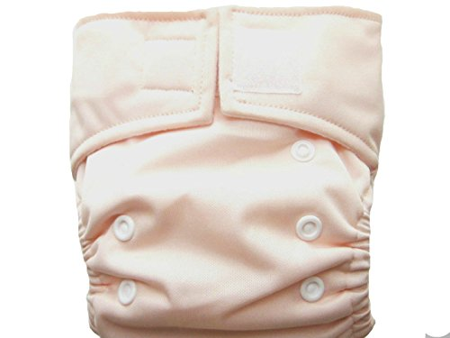 Kawaii Pure & Natural Newborn Cloth Diaper with 2 Microfiber Inserts in Peach Pink