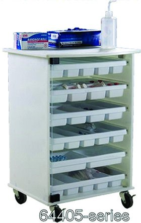 Small 6 Shelf Cart With Trays