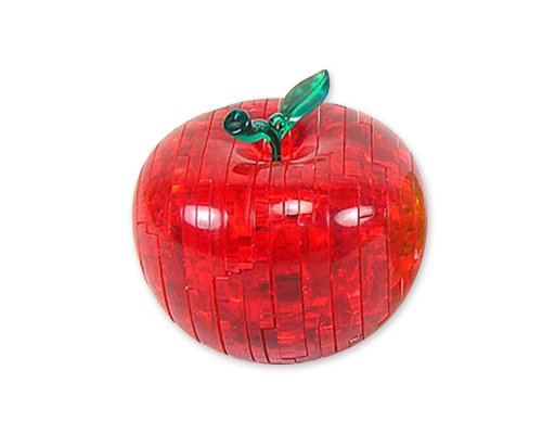 Original 3D Crystal Puzzle - Apple Red - 1