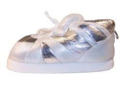 Happy Feet - Silver Sequin - Slippers