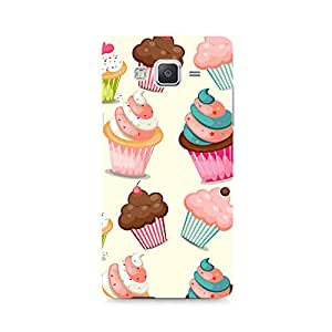 Motivatebox - Cute Cupcakes Samsung Galaxy Grand 3 G7200 cover - Polycarbonate 3D Hard case protective back cover. Premium Quality designer Printed 3D Matte finish hard case back cover.
