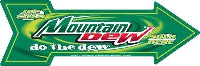 mountain-dew-metal-die-cut-arrow-27-x-9-by-ahoy-supply