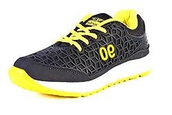 Guardian Mens Black & Yellow Sports Shoes 8 UK