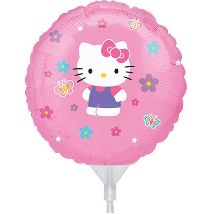 "9"" EZ Fill Airfill Hello Kitty With Sticks (3 Pack) - 1"