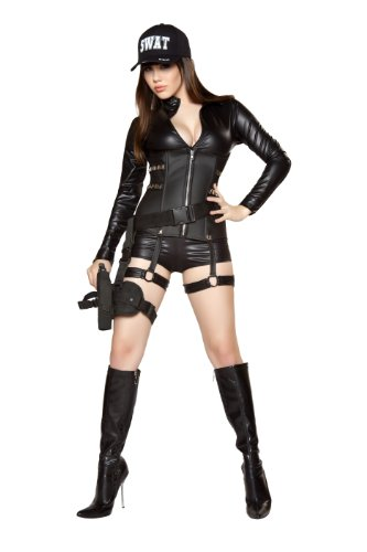 Roma Costume 2 Piece Sexy Swat As Shown, Black, Large