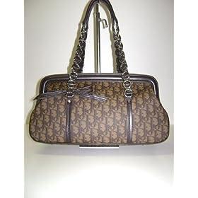 Dior LCP44874 Marron Fonce Trotter Romantique Handbags