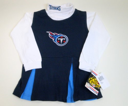 NFL Reebok Tennessee Titans Team Logo 2 Piece Cheerleader Jumper Kids Medium (Size 5/6)