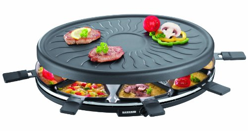 Severin Party Grill with 8 Mini Pans, Black