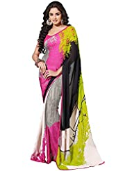 CSE Bazaar Women Beautiful Fancy Indian Wedding Bridal Party Wear Saree Sari - B00SO6QPHE