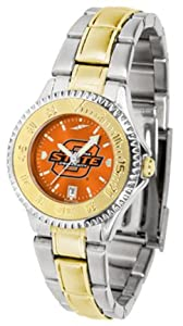 Oklahoma State Cowboys Competitor AnoChrome Ladies Watch with Two-Tone Band by SunTime