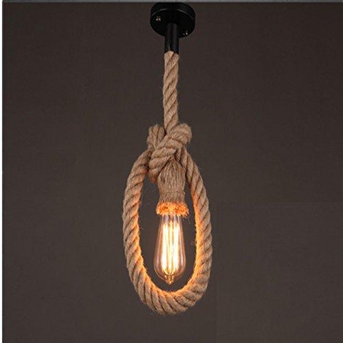 KINGSO-E27-attacco-Edison-lampadario-Vintage-lampade-canapa-corda-lampadari-corda-luce-senza-lampadina