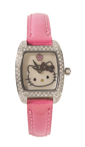 Hello Kitty Women's  QWL1382DIA Kimora Lee Simmons Mini Rectangle Case Watch
