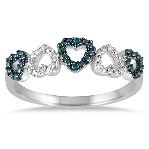 003-CTTW-Sterling-Silver-White-Blue-Diamond-heart-band