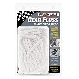 Finish Line Gear Floss Microfiber Rope Bicycle Cleaner - 20 pack - GF0200101
