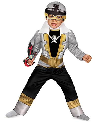 Power Rangers Super Megaforce Special Ranger Silver Muscle Toddler Costume