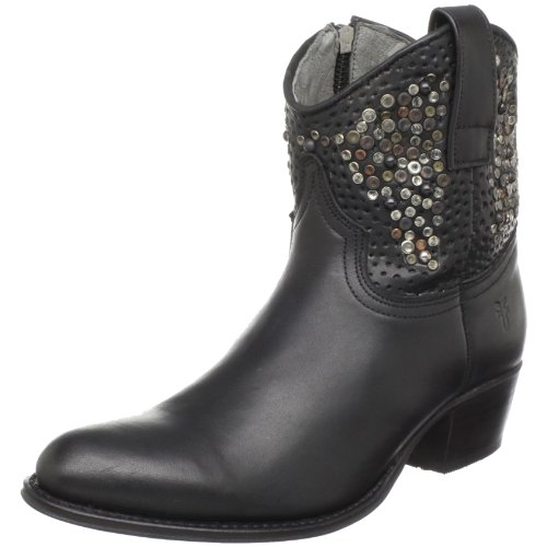 FRYE Women's Deborah Ankle Stud Boot,Black,11 M US