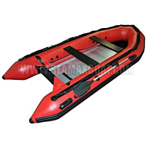 Seamax New Style Ocean430 Red 14ft Inflatable Boat with Aluminum Floor, Heavy Duty... by SEAMAX MARINE