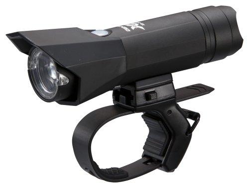 ジェントス USB充電式バイクライト XB 357RE 【明るさ320ルーメン/実用点灯2.5時間】 マットブラック XB-357RE