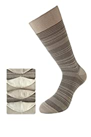 4 Pairs of Collezione Piqué Striped Socks
