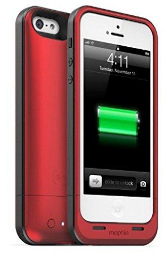 メーカー正規輸入品 保証付 mophie juice pack air for iPhone SE/5s/5 (1,700mAh バッテリー内臓ケース) MOP-PH-000032 レッド(赤色) [並行輸入品]