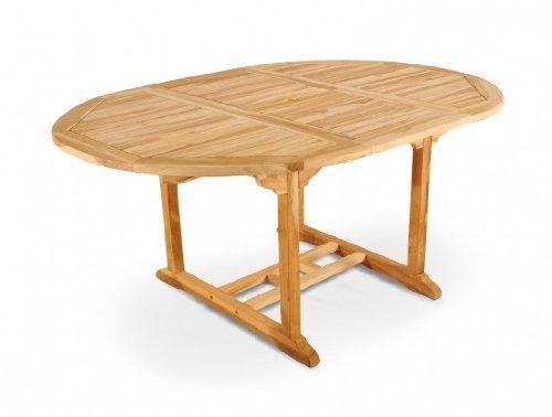 Teak Gartentisch Teaktisch Tisch Auszugstisch 120 - 170 cm Gartenmöbel
