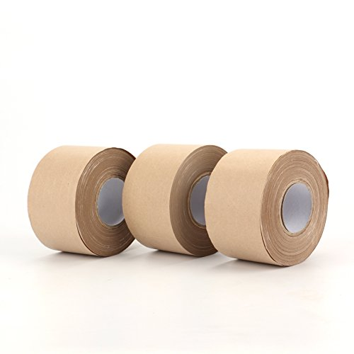 Fasmov Kraft Paper Tape, Shipping Packaging Tape,Ideal for Sealing and Packaging- 2.4 Inches x 114 Feet(Pack of 3) (Paper Packaging Tape compare prices)