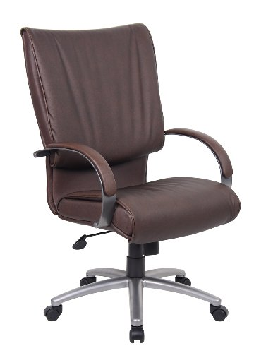 boss-high-back-leatherplus-chair-with-chrome-base-bomber-brown-by-boss-office-products