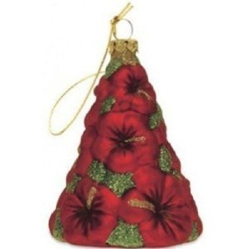 Island Heritage Hibiscus Tree Collectible Glass Ornament
