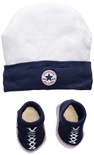 Converse Hat and Bootie, Set Bimba, Multicolore (Navy), 0/6 mesi (Taglia Produttore: 0-6M)