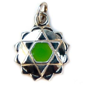 925 Sterling Silver Yoga Heart 4th Chakra Charm