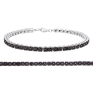 Sterling Silver Black Diamond Bracelet (1 CT)