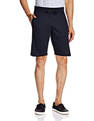 Parx Men's Cotton Shorts (8907253447236_XMBZ00027-B8_32_Dark Blue)
