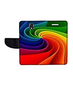 KolorEdge Printed Flip Cover For Samsung Galaxy Note 3 Neo Multicolor - (55KeMLogo11291SamN750)