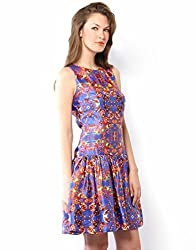 XnY Women's Dress (DR 1020258_Blue_10)
