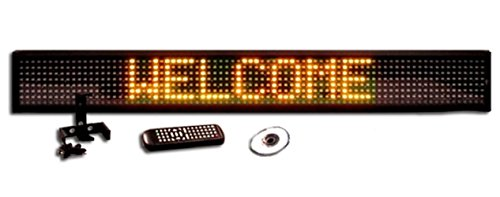 One Line Semi-Outdoor Ultra Bright Yellow Led Programmable Display Sign With Wireless Remote Control