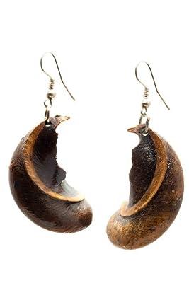 Maisha Fair Trade Up-Cycled Ugandan Seed Pod Earrings