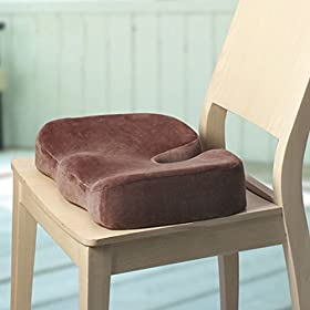 Coccyx Orthopedic Memory Foam Seat Support Cushion