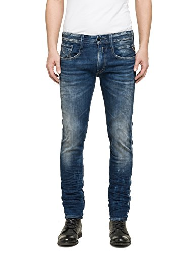Replay - Anbass, Jeans da uomo, blu (blau  (blue denim 9)), W33/L32 (33)
