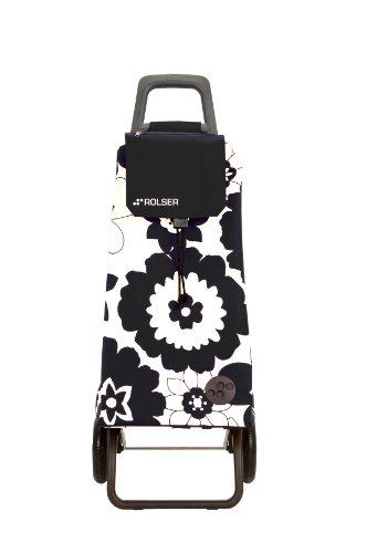 MOU052 Black/White - Rolser - Shopping Trolley - Flora 'Mountain RG' - 2 Wheel