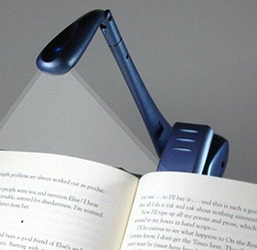 Clip-On Booklight - Blau - Leselampe: Ultrahelles LED Leselicht mit Clip