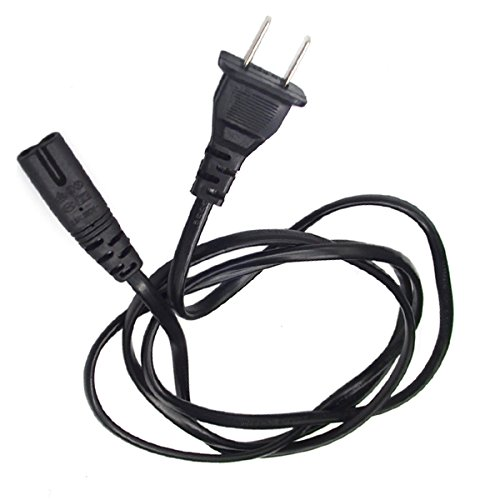 5 Ft Ac Power Cord Fig 8 For Panasonic Viera Led Hdtv Tc-L55E50 Black
